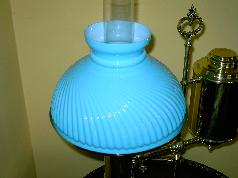 Aboutstudentlamps beautiful blue cased glass narrow ribbed swirl student lamp shade aloadofball Gallery